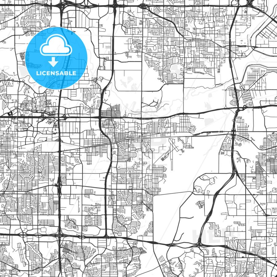 Grand Prairie, Texas - Area Map - Light | HEBSTREITS Sketches