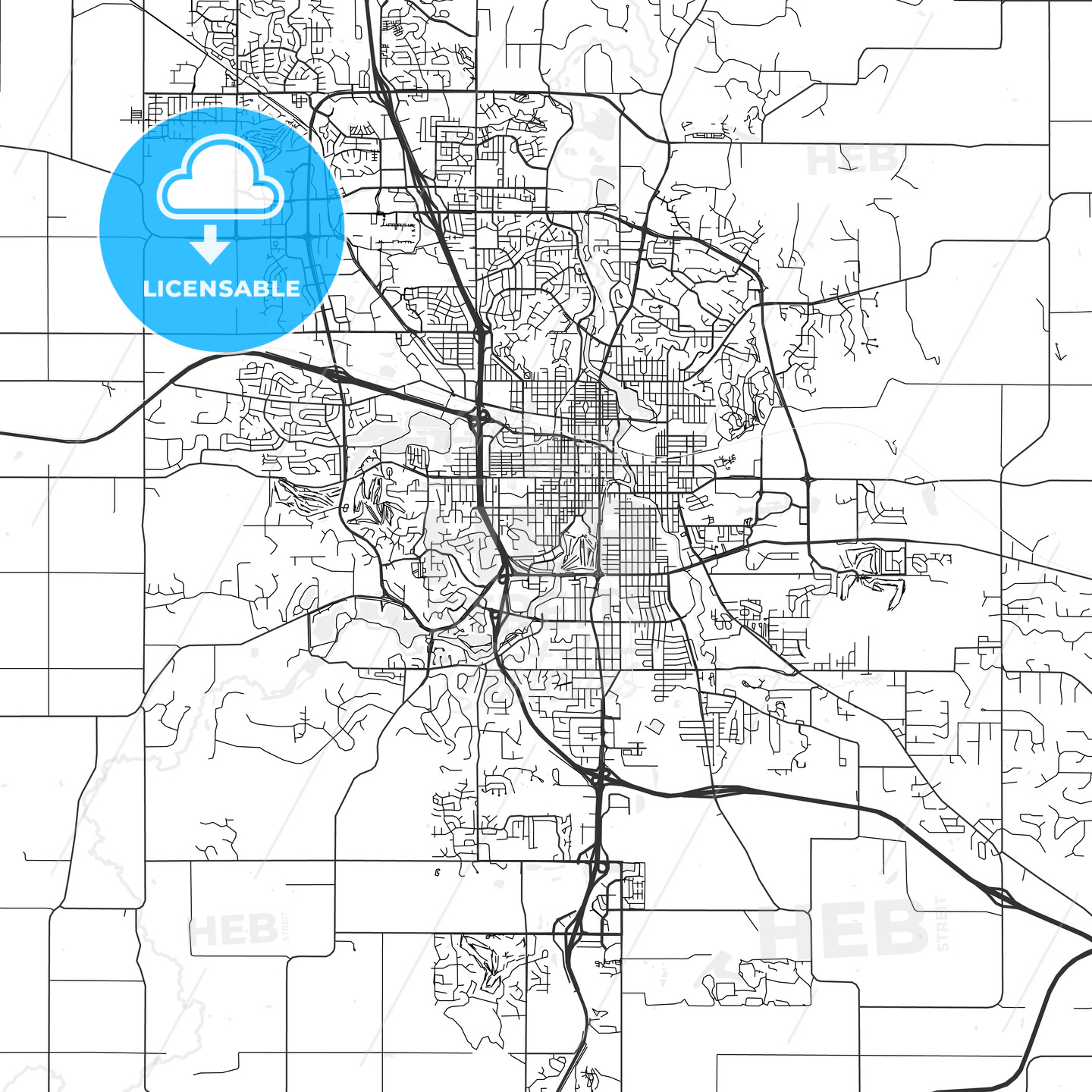 Rochester Minnesota Area Map Light Hebstreits Sketches