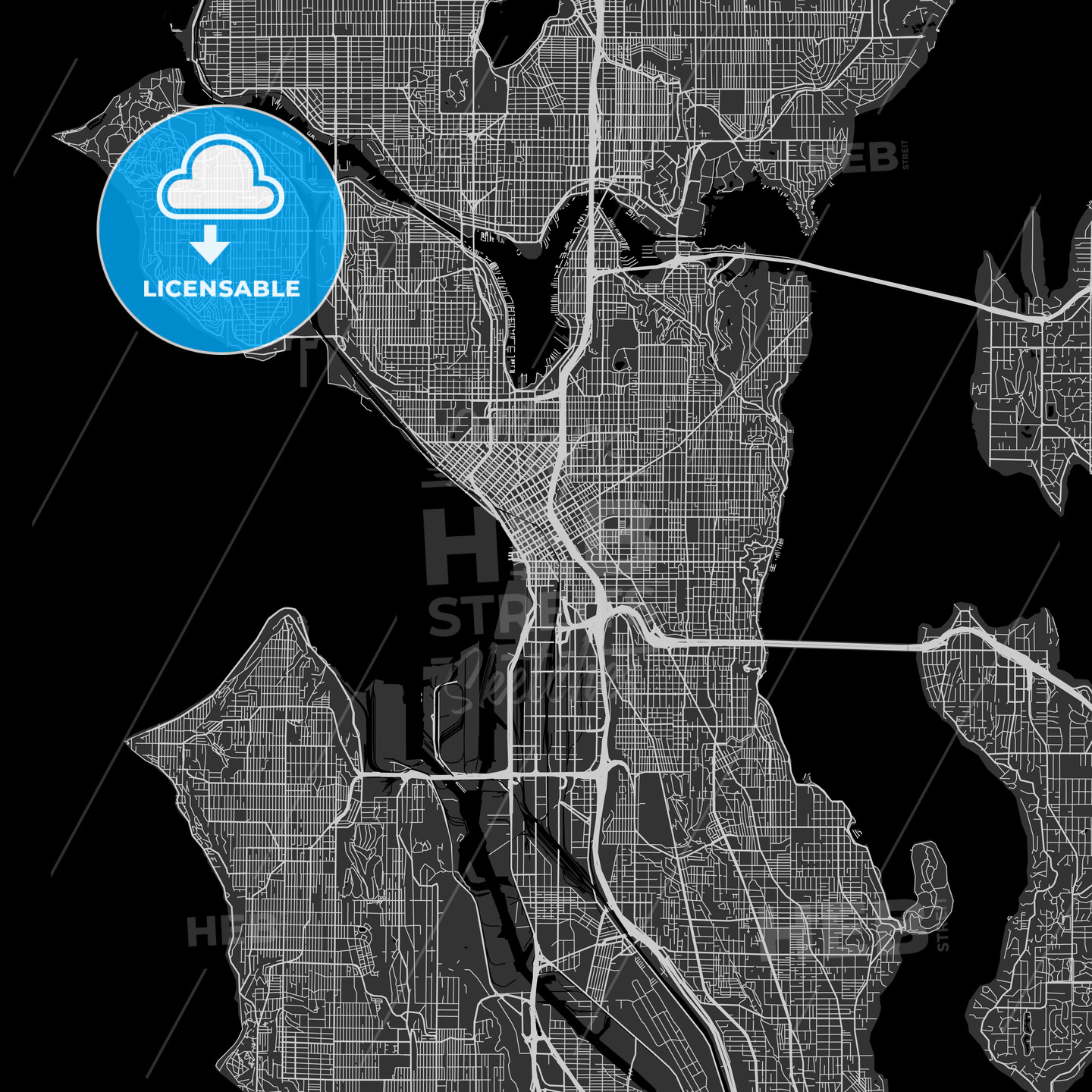 Seattle, Washington - Area Map - Dark on sound transit, seattle and surrounding islands, seattle community map, king county, seattle time zone map, seattle washington, seattle vicinity map, washington map, seattle neighborhood map, snohomish county map, puget sound map, greater seattle map, florida map, seattle walking map, puget sound region, new york metropolitan area, port townsend, lake washington, king county map, dallas/fort worth metroplex, seattle airport map, downtown seattle map, tacoma map, downtown seattle, kirkland map, seattle visitors map, pierce county, seattle design map, puget sound, woodinville map, phoenix metropolitan area,