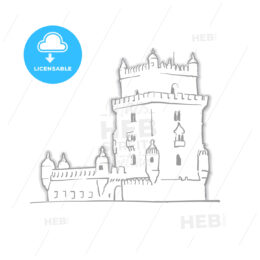 Lisbon Portugal Belem Tower Sketch