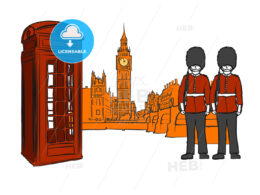 London famous icons sketches
