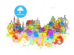 Luxembourg Colorful Landmark Banner