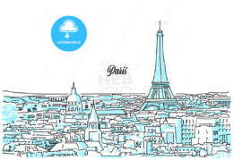 Paris Cityscape Sketch