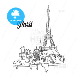 Paris Landmark Banner Sign