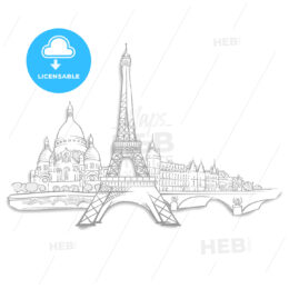 Paris Landmarks Sketches