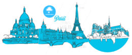 Paris Travel Landmarks Banner
