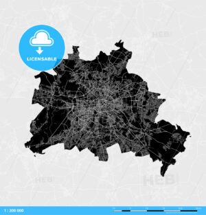 Berlin City Vector Map - HEBSTREITS