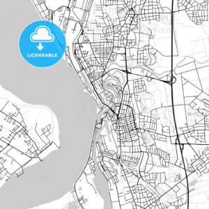 Bremerhaven, Germany, Vector Map – Light - HEBSTREITS