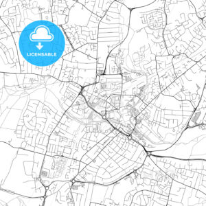 Chelmsford, England, UK, Vector Map – Light - HEBSTREITS