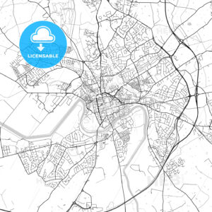 Chester, England, UK, Vector Map – Light - HEBSTREITS
