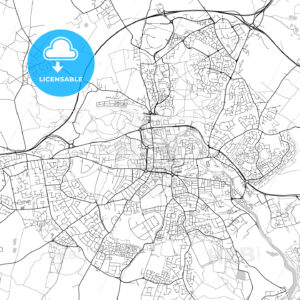 Colchester, England, UK, Vector Map – Light - HEBSTREITS