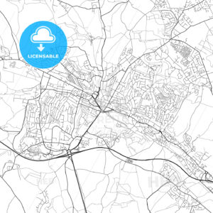 High Wycombe, England, UK, Vector Map – Light - HEBSTREITS