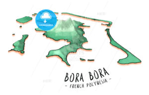 Map Concept of Bora Bora - HEBSTREITS