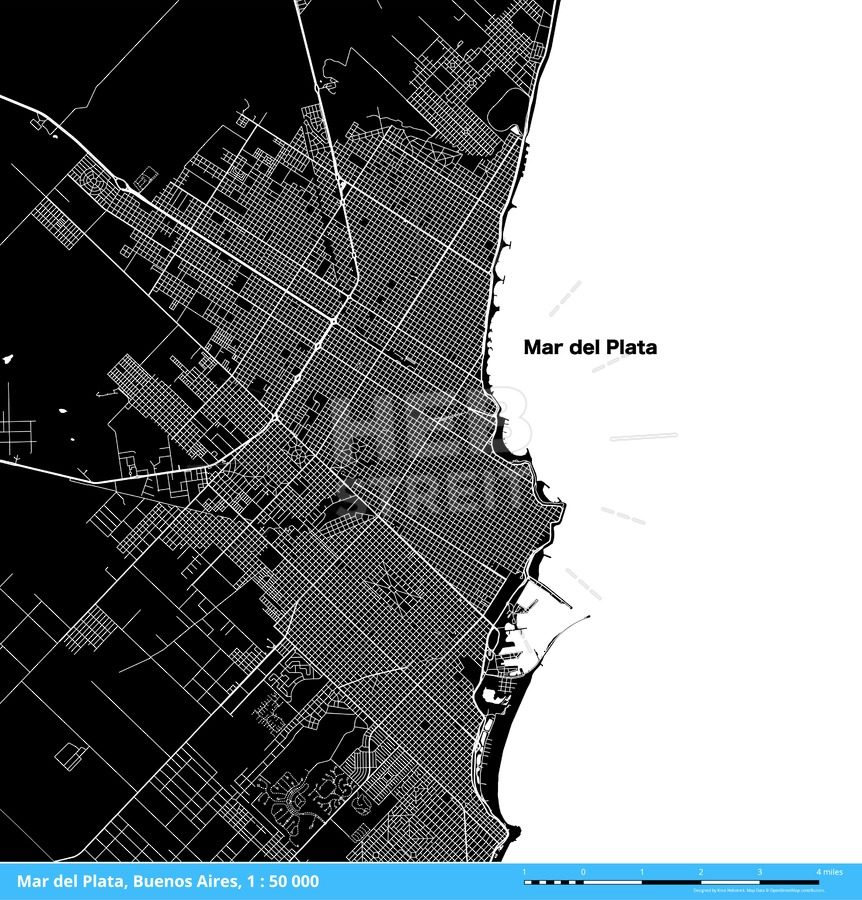 Mar del Plata Buenos Aires Argentina Download Map HEBSTREITS