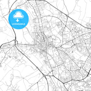 Oxford, England, UK, Vector Map – Light - HEBSTREITS
