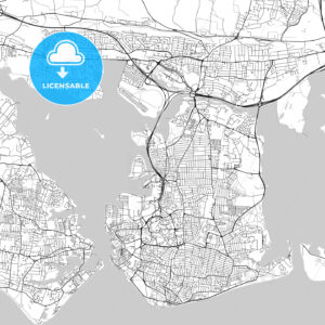 Portsmouth,England, UK, Vector Map – Light - HEBSTREITS