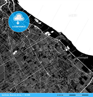 Quilmes, Buenos Aires, Argentina Download Map - HEBSTREITS