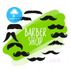 Set of barber shop mustache icons - HEBSTREITS