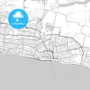 Southend-on-Sea, England, UK, Vector Map – Light - HEBSTREITS