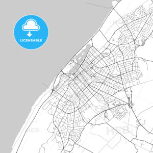 Southport, England, UK, Vector Map – Light - HEBSTREITS