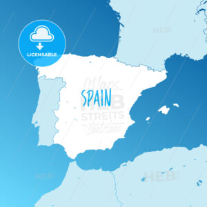 Spain Vector Map - HEBSTREITS