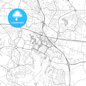 Telford, England, UK, Vector Map – Light - HEBSTREITS