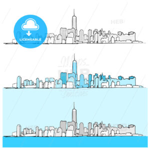 Three Versions of New York City Skyline - HEBSTREITS