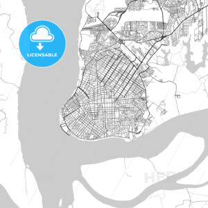 Belém, Pará, Downtown Vector Map - HEBSTREITS