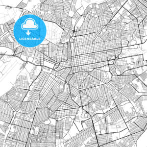 Campo Grande, Mato Grosso do Sul, Downtown Vector Map - HEBSTREITS