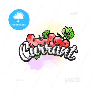Currant colorful label sign - HEBSTREITS