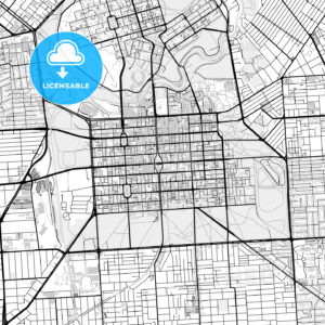 Downtown vector map of Adelaide - HEBSTREITS