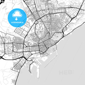 Downtown vector map of Alicante - HEBSTREITS