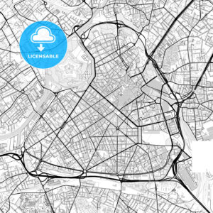 Downtown vector map of Lille - HEBSTREITS