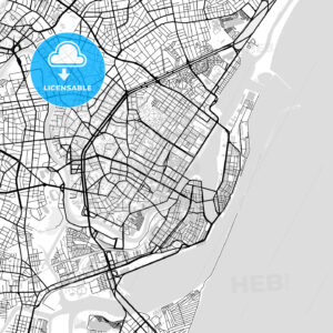 Downtown vector map of Recife - HEBSTREITS