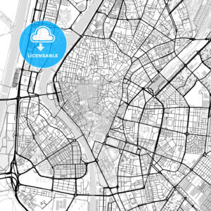 Downtown vector map of Seville - HEBSTREITS