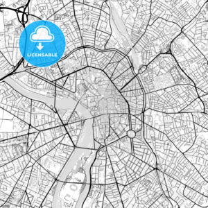 Downtown vector map of Toulouse - HEBSTREITS