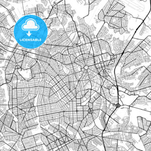 Goiânia, Goiás, Downtown Vector Map - HEBSTREITS