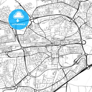 Inner city vector map of Basingstoke - HEBSTREITS