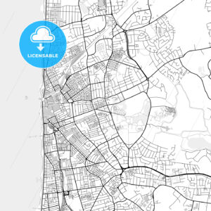 Inner city vector map of Blackpool - HEBSTREITS