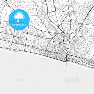 Inner city vector map of Brighton and Hove - HEBSTREITS