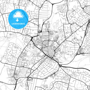Inner city vector map of Chelmsford - HEBSTREITS