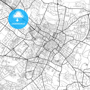 Inner city vector map of Cheltenham - HEBSTREITS