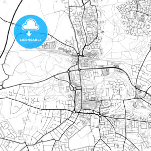 Inner city vector map of Colchester - HEBSTREITS