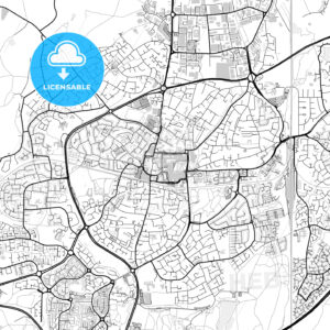 Inner city vector map of Crawley - HEBSTREITS