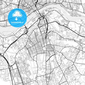 Inner city vector map of Gateshead - HEBSTREITS