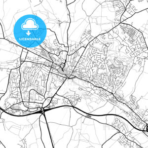 Inner city vector map of High Wycombe - HEBSTREITS