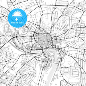 Inner city vector map of Ipswich - HEBSTREITS