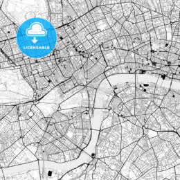 Downtown map of London, light