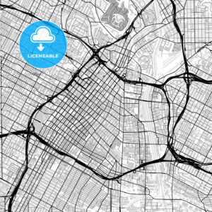 Inner city vector map of Los Angeles - HEBSTREITS