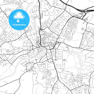 Inner city vector map of Maidstone - HEBSTREITS